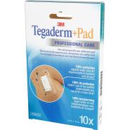 3M Tegaderm + Pad Pansements Transparents Adhésifs Stériles 5 cm x 7 cm x 10