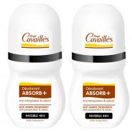 Rogé Cavaillès Déodorant Absorb+ Régulateur Roll-on Sans Parfum 2 x 50 ml