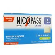 Nicopass 1,5 mg Pastilles Eucalyptus x 12