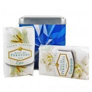 Anne De Péraudel Coffret Métal Bleu Savons Parfumés 4 x 100 g