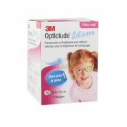 3M Opticlude Silicone 5.3 x 7.0 cm Filles Pansements x 50