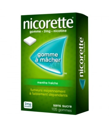 Nicorette 2 mg Menthe Fraîche Sans Sucre x 105