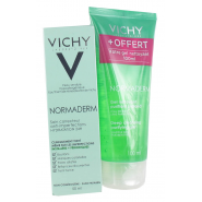 Vichy Normaderm Soin Embellisseur Anti-imperfections Hydratation 24h 50 ml+ Gel Nettoyant Purifiant 100 ml OFFERT
