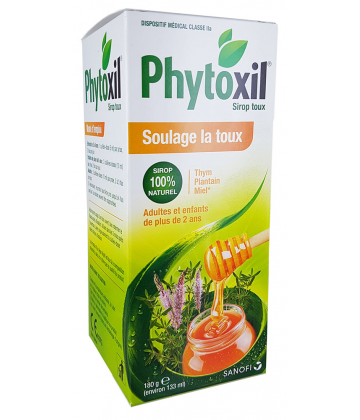 phytoxil sirop thym plantain miel 180 g pas cher orl. Black Bedroom Furniture Sets. Home Design Ideas
