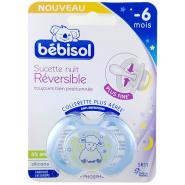 Bébisol Sucette Nuit SR11 Réversible Silicone -6 mois