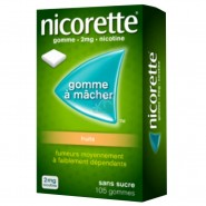 Nicorette 2 mg Fruits Sans Sucre x 105