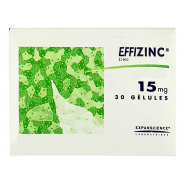 Effizinc 15 mg Gélules x 30