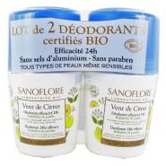 Sanoflore Vent de Citrus Déodorant 24h 2 x 50 ml
