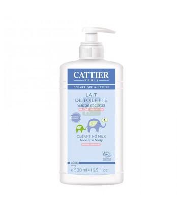 Cattier Bébé Lait de Toilette Bio 500 ml