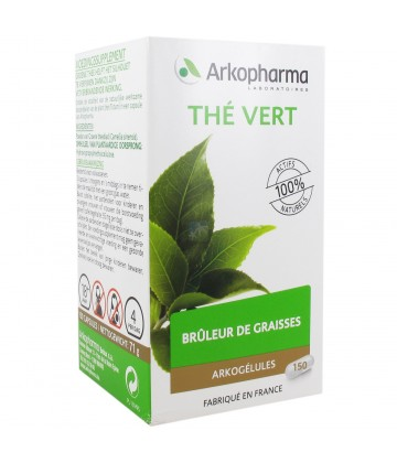 Arkopharma Arkogélules Thé Vert 150 Gélules Végétales