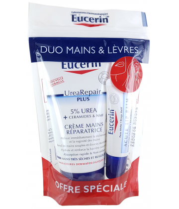 Eucerin Duo Mains 75 ml & Lèvres Sèches 10 ml