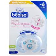 Bébisol Sucette SP10 Physiologique Silicone -6 mois