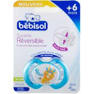 Bébisol Sucette SR20 Réversible Silicone +6 mois