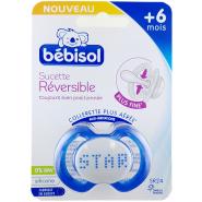 Bébisol Sucette SR24 Réversible Silicone +6 mois