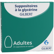 Suppositoires Gilbert Adulte x 25