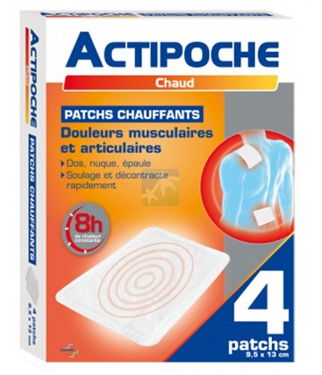 Actipoche Chaud Patchs Chauffants x 4