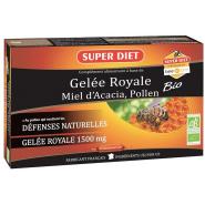 Super Diet Gelée Royale Miel d'Acacia Pollen Bio x 20