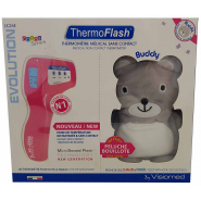 ThermoFlash LX26E Thermomètre Sans Contact Pop + Peluche Bouillote