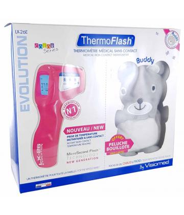 ThermoFlash LX26E Thermomètre Sans Contact Vinyl + Peluche Bouillote