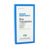 Lehning n°80 Rhus Toxicodendron Douleurs rhumatismales 30 ml