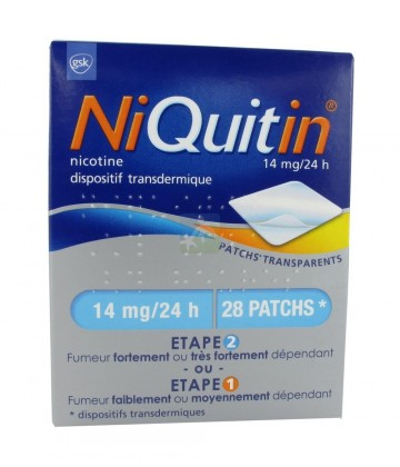 NiQuitin patchs 14 mg/24h x 28