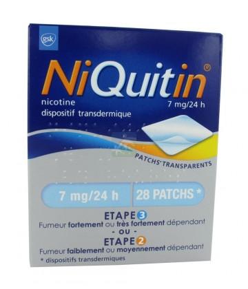 NiQuitin patchs 7 mg/24h x 28