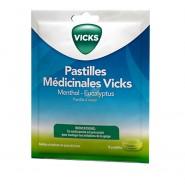 Vicks Pastilles Médicinales Menthol Eucalyptus x 18