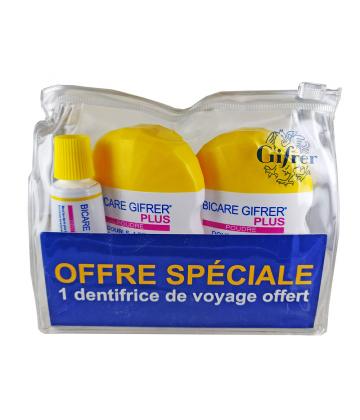 Gifrer Trousse Bicare Plus 2 x 60 g + Dentifrice de Voyage Offert