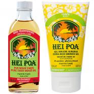 Hei Poa Pur Monoï Tahiti Parfum Tiaré 100 ml + Gel Douche Surgras 150 ml Offert