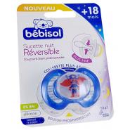 Bébisol Sucette Nuit SR41 Réversible Silicone +18 mois