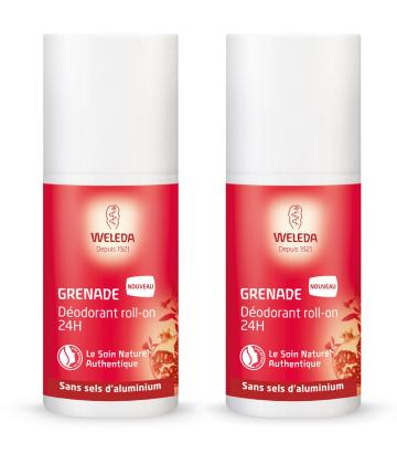Weleda Grenade Déodorant Roll-On 24h 2 x 50 ml
