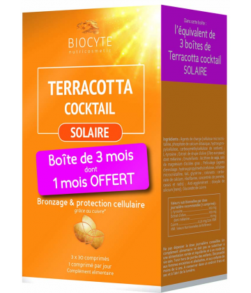 Biocyte Terracotta Cocktail Solaire Lot de 3 x 30