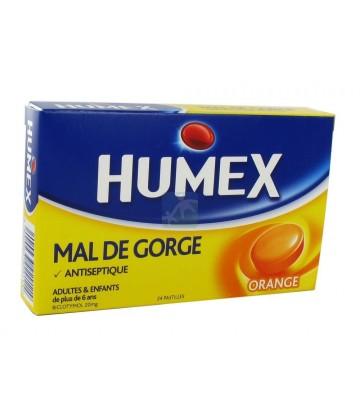 Humex Gorge Pastilles Orange x 24