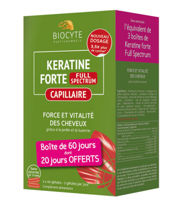 Biocyte Keratine Forte Full Spectrum x 120