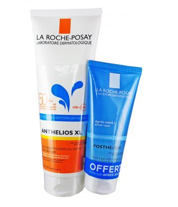 La Roche-Posay Anthelios XL Gel Wet Skin SPF 50+  250 ml + Posthélios HydraGel 100 ml OFFERT