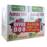 Nat&Form Bio Acérola 1000 Comprimés 2 x 30