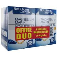 Nat&Form Magnésium Marin Vitamine B6 2 x 40