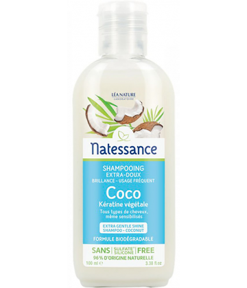 Natessance Shampooing Extra-Doux Coco 100 ml