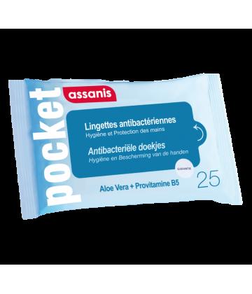 Assanis Pocket Lingettes Antibactériennes x 25