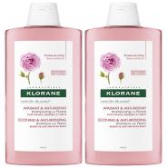 Klorane Shampooing Pivoine 2 x 400 ml