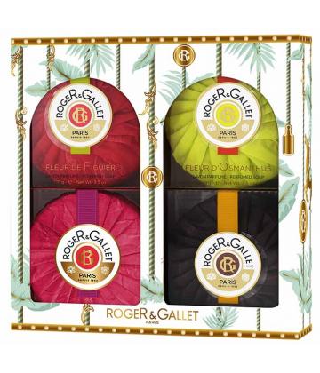Roger&Gallet Coffret Noël 4 Savons Parfumés