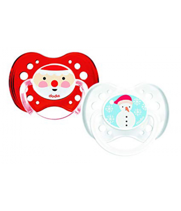 Dodie Sucette Anatomique Silicone Noël N°A82 +18 mois x 2