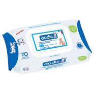 Dodie Lingettes Nettoyantes Douceur Dermo-Apaisantes 3 en 1 x 70
