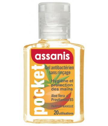 Assanis Pocket Gel Antibactérien Parfum Mangue 20 ml