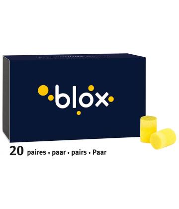 Blox Bouchons d'Oreille en Mousse Cylindrique x 40