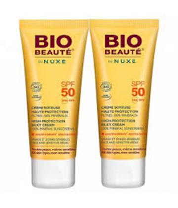 Bio-Beauté by Nuxe Crème Soyeuse Haute Protection SPF50 2 x 50 ml
