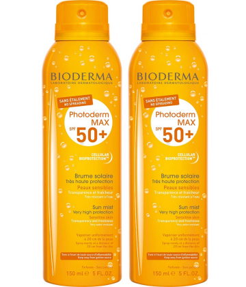 Bioderma Photoderm Max Brume Sans Etalement SPF50+ 2 x 150 ml