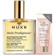Nuxe Huile Prodigieuse 100 ml + Echantillon Crème Prodigieuse
