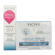 Vichy Aqualia Thermal Crème Réhydratante Riche 50 ml + Minéral 89 10 ml OFFERT