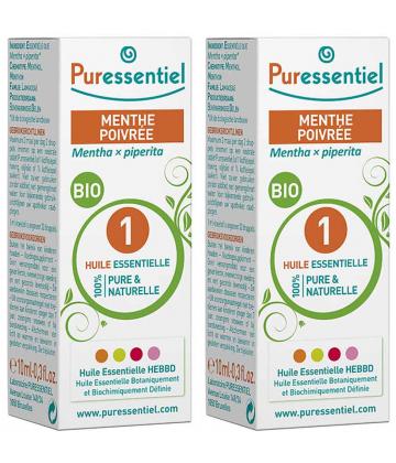 Puressentiel Huile Essentielle Menthe Poivrée Bio 2 x 10 ml